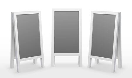 Advertising board sandwich 3D blank display mockup