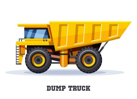 Dump truck tipper, dumper haul, industry machine