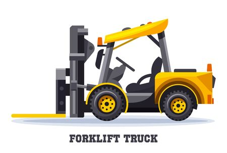Forklift truck, warehouse loader fork lift machine