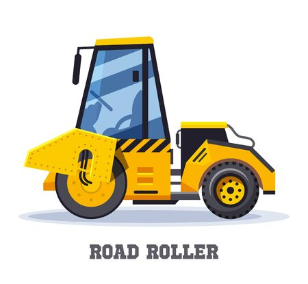 Road roller construction or asphalt paving machine Ilustrace
