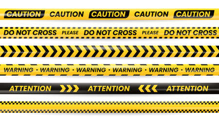 Danger tapes, caution warning no cross police line
