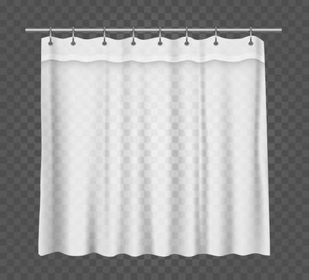 Curtain for a bathroom or window, vector mockup