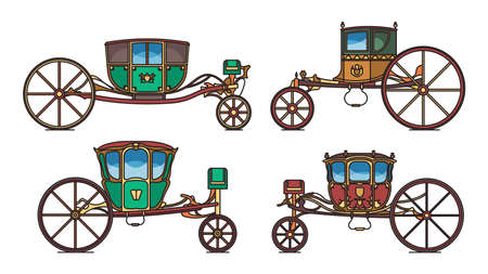 King carriage or princess vintage chariot set