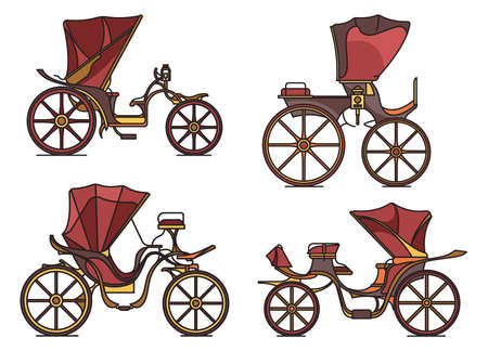 Carriages of XIX century. French chariot in line
