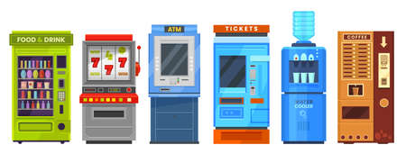 Vending machine or automat, ATM, cooler, dispenser