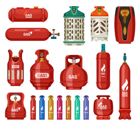 Gas tank cylinders, propane LPG bottles containers