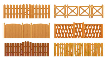Fence or wooden gates, wood wall barrier boards