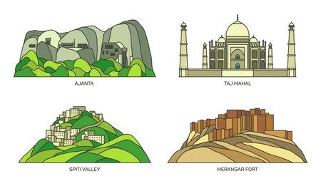 India landmarks, architecture Taj Mahal in Agra
