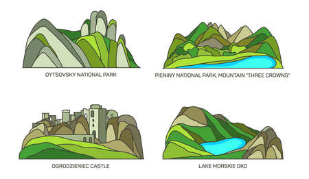Poland travel landmarks, nature scenery park, lake