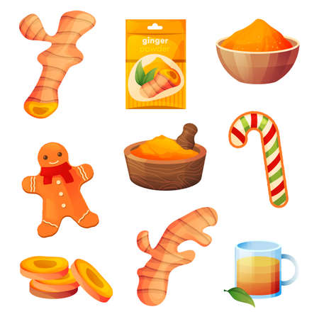 Ginger food products, spice and flavoring desserts