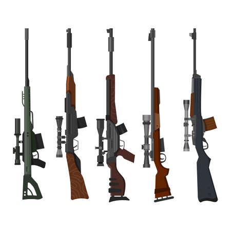 Military and hunting weapon set, rifle guns