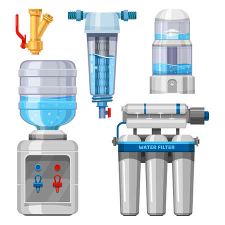 Set of water filters and drinking water system