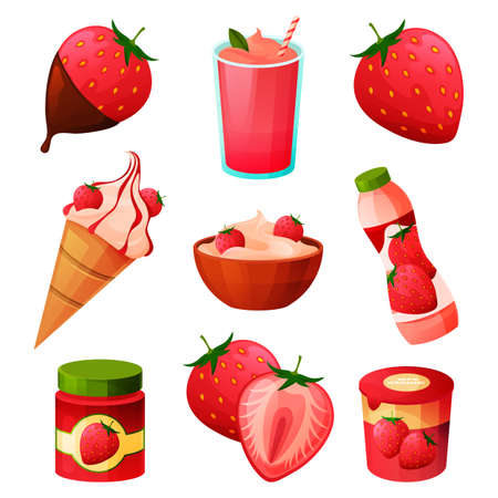 Food from strawberry, fruit and berry products