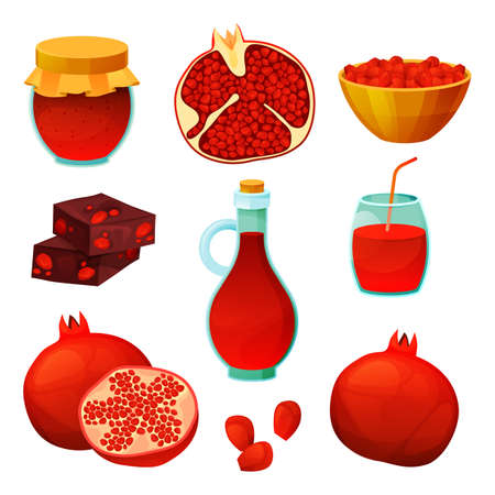 Food from pomegranate, fruit juice, sweet products