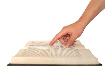 hand holding book
