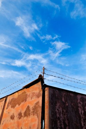 Barbed wire fence Stock Photo - 8019991
