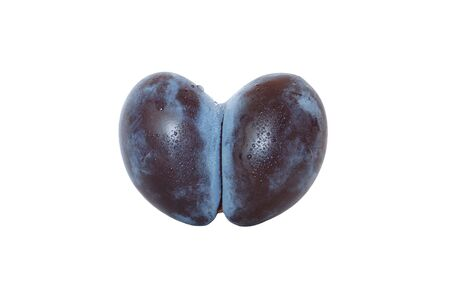 Plum in the form of heart  Stock Photo