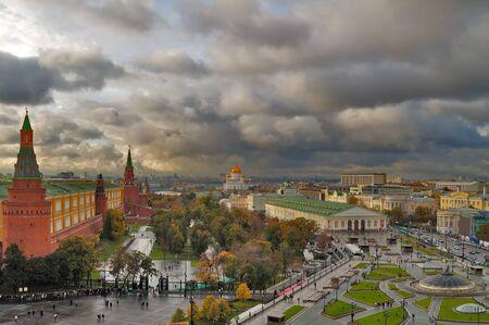 kremlin: Center van Moskou Stockfoto