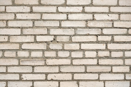 The old white brick wall Stock Photo
