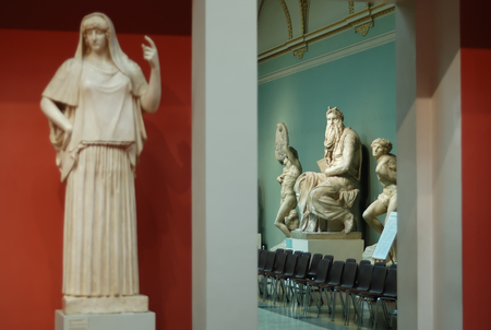 Ancient statues in the Pushkin state Museum of fine arts in Moscow.