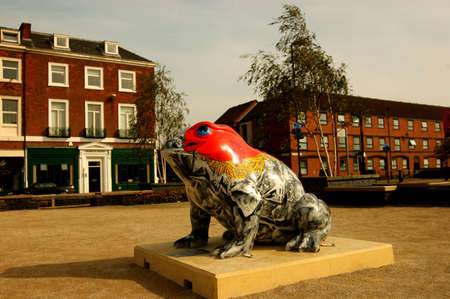 kingston:  A series of street sculptures to be found in the centre of Kingston on Hull. Editorial