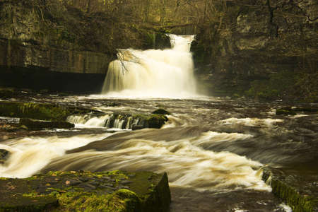 ure: West Burton Falls, on the river Ure are close to the village green of West Burton