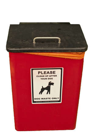 councils: a dog waste collection container, provided by the local council to encourage the public to clean up pavements after there dogs