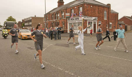17 year old: The Olympic Torch arrives in the market town of Brigg,as it is carried across Lincolnshire  The 17 year old Alice Kaye from South Kelsey, Lincolnshire, carries the torch on this section of the relay