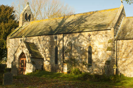 dappled: Dappled sunlight falls on All Saints Church  Which is to be  found in the tiny hamlet of Thorton-Le-Moor,North Lincolnshire  The village has three houses, a village church   All Saints   and Thornton Manor Farm
