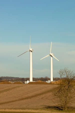 viable: Farmers in Lincolnshire installing wind turbines to generate electricity and revenue to help  make their farms viable