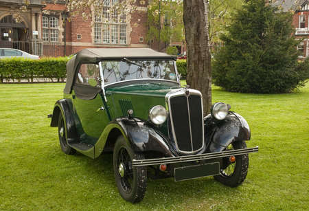 morris: Morris soft top tourer,year of manufacture 1939  Seen at classic car rally,Gainsborough Old Hall  Editorial