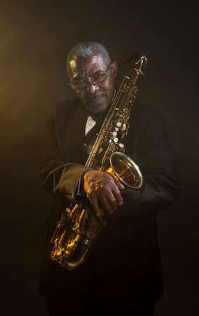 African American Saxophonist Sax Jazz Music