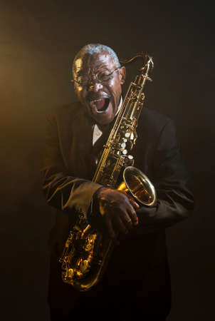 african sax: African American Saxophonist Sax Jazz Music