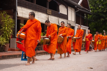laos: Collecting Alms