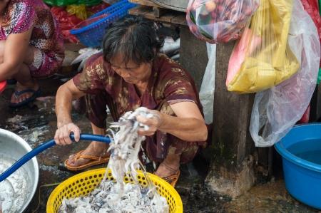 chinatown: Washing Fish, Chinatown Market