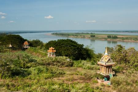 mekong: Mekong River, Cambodia Stock Photo