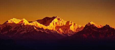 darjeeling: Kangchenjunga Sunrise Stock Photo