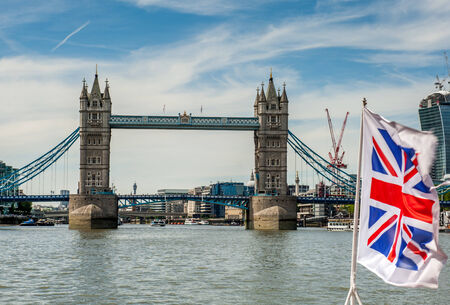 Tower Bridge   Union Flag photo