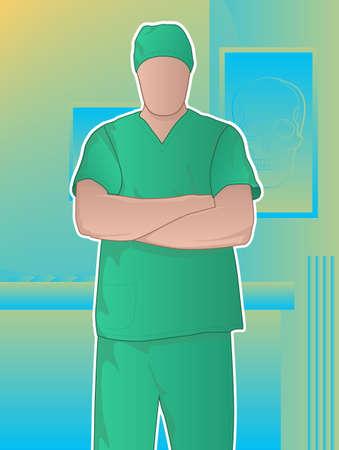 chirurg: Chirurg mit gekreuzten Armen