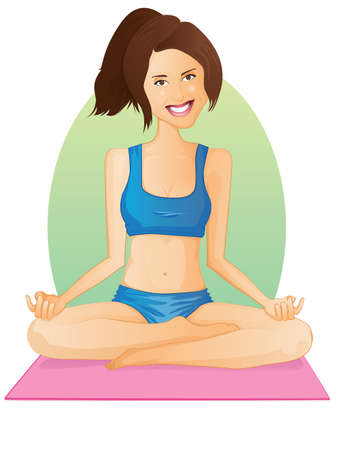 Yoga GirlLotus Pose Vector