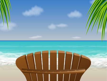Adirondack Beach Chair Stock Vector - 12491560