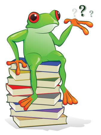 college professor: Book Frog
