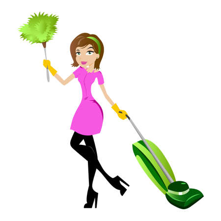 Cleaning Lady Character Vector