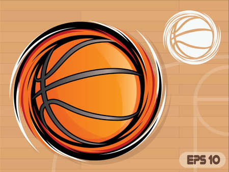 Spinning Basketball Icon/Basketball Team Mascot Vector