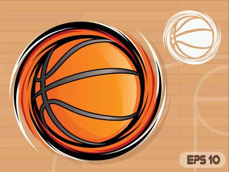 Spinning Icône de basket-ball / mascotte de l'équipe de basket-ball Vecteurs
