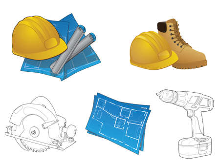 Construction Icon Collection/Vaus home builder elements Stock Vector - 12821299