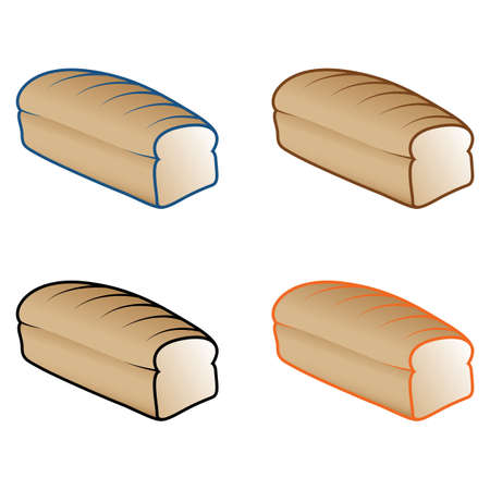 Bread Loaf Icons Vector