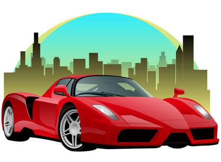 欲望: Exatic 赤いスポーツカー