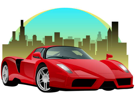 Exatic Red Sports Car Vector