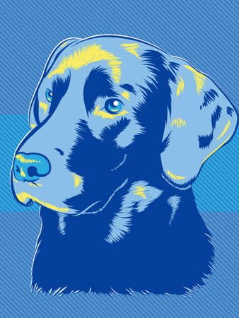 Labrador Dog Pop Art Style Vector